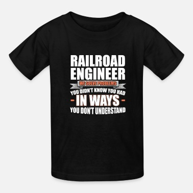 Railway Problem solver railway engineer - Kids' T-Shirt