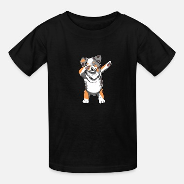 Charles Dabbing Australian Shepherd Dog Pet Aussie Dog - Kids' T-Shirt