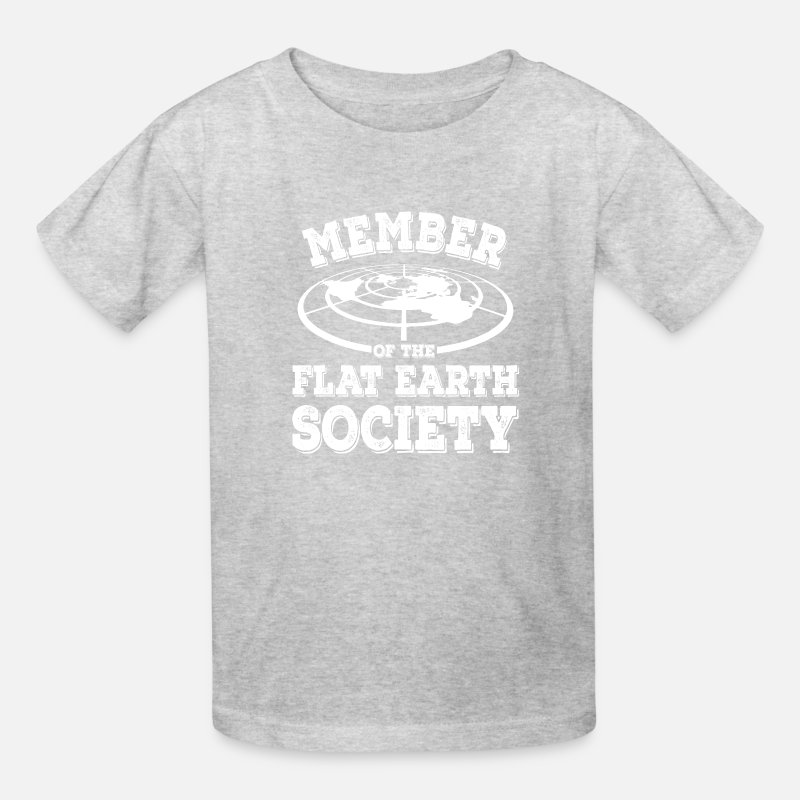 b66a0680 Funny Flat Earth - Society Member Planet Humor Kids' T-Shirt | Spreadshirt