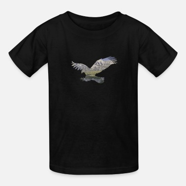 Eagle in the nature wilderness Mountains Design - Kids' T-Shirt