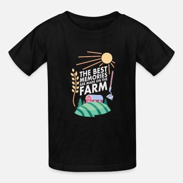 Farm Best Memories Farmer Farming Country Life - Kids' T-Shirt