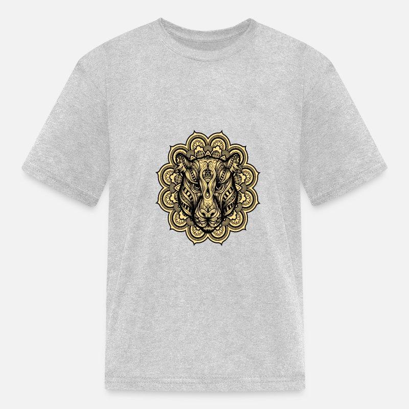 d49a07b69 Jaguar mandala Kids' T-Shirt - heather gray