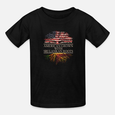 Sri Lankan american grown with sri lankan roots - Kids' T-Shirt