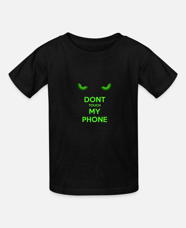 Quote T-Shirts - Don't touch my Phone - Kids' T-Shirt black