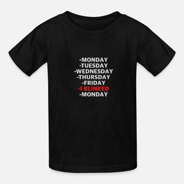 Monday Crazy Weekend Fun Shirt, Worker, Monday Tee Gift - Kids' T-Shirt