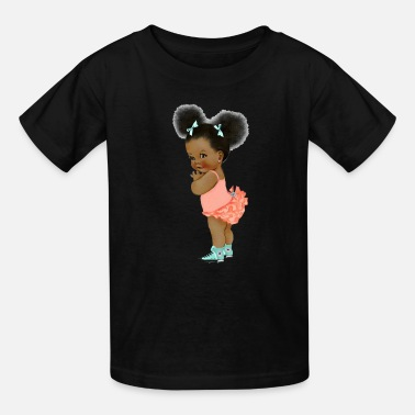 Painting Black live matter African doll - Kids' T-Shirt