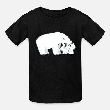 Mum Cute Polar Bear Mum and Cubs by Cheerful Madness!! - Kids' T-Shirt