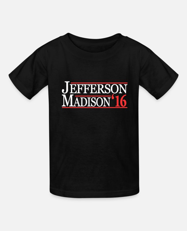 Thomas T-Shirts - Thomas Jefferson And James Madison TShirt - Kids' T-Shirt black