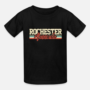 City-state Rochester Minnesota City State Souvenir Retro - Kids' T-Shirt