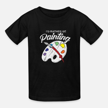 Painting Painter Artist Brushes Mixed Pallet Gift - Kids' T-Shirt
