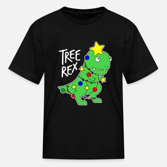 ec13615b08371f Tree Rex - Funny Dinosaur Christmas Tree Kids' T-Shirt   Spreadshirt