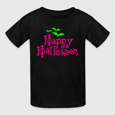Happy Halloween with bats - Kids' T-Shirt