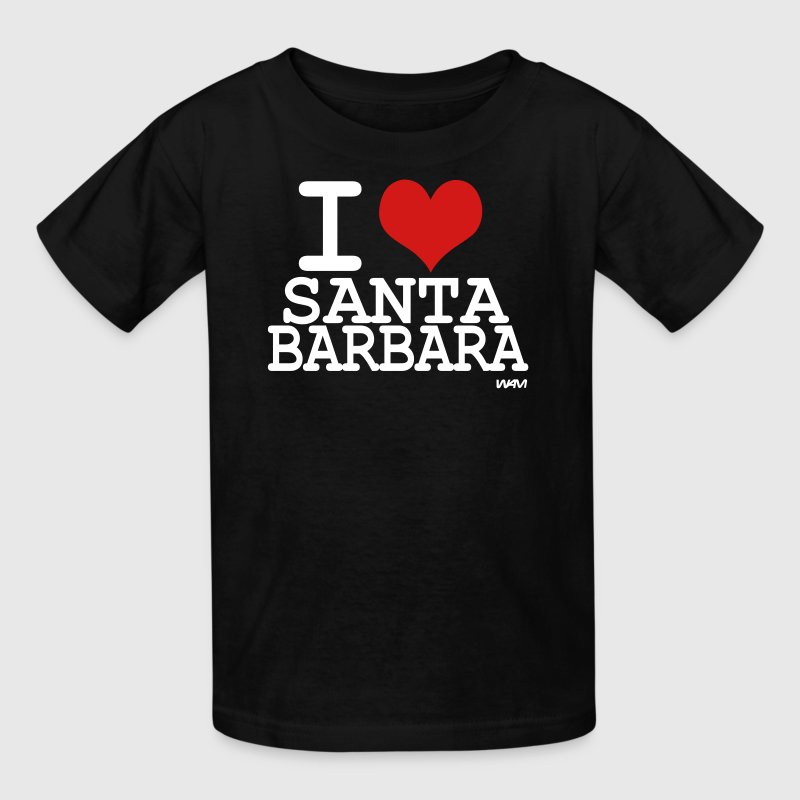 i love santa barbara by wam - Kids' T-Shirt