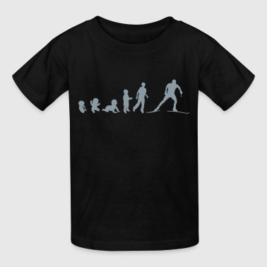 evolution nordic combined skiing backgro - Kids' T-Shirt