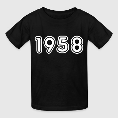 1958, Numbers, Year, Year Of Birth - Kids' T-Shirt