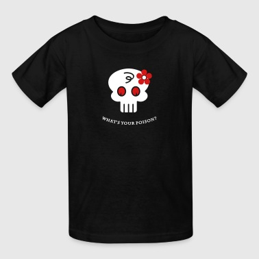 hippie skull (2c) - Kids' T-Shirt