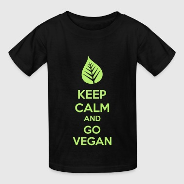 Keep Calm And Go Vegan - Kids' T-Shirt