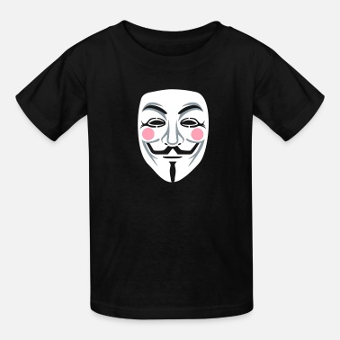 Hacker Mask Anonymous/Guy Fawkes mask 3clr - Kids' T-Shirt