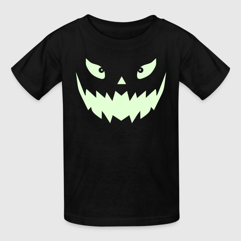 Really scary Halloween pumpkin face vector - Kids' T-Shirt