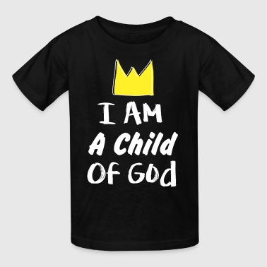 i am a child of god gold crown hand drawn - Kids' T-Shirt