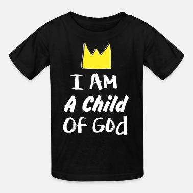 Child i am a child of god gold crown hand drawn - Kids' T-Shirt