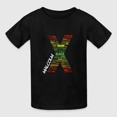 Typographic Malcolm X  - Kids' T-Shirt