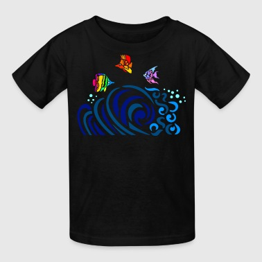 Rainbow Fish Rainbow Fish (dark shirts) - Kids' T-Shirt