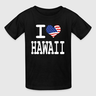 i love hawaii - white - Kids' T-Shirt
