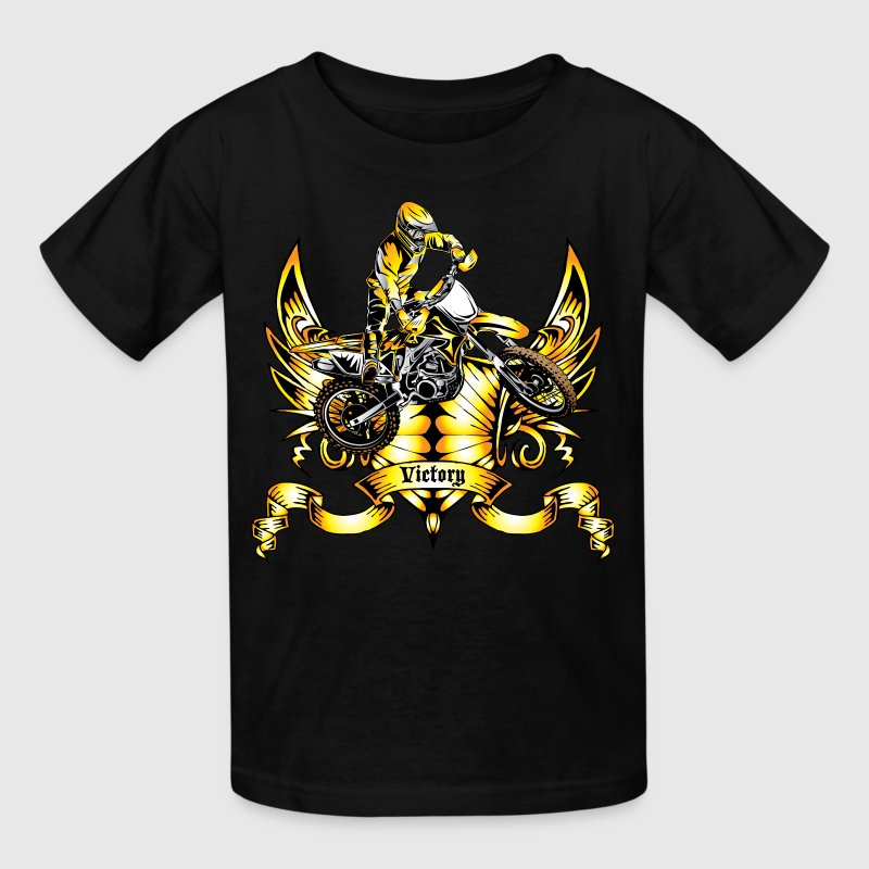 Off-Road Dirt Bike Victory Gold - Kids' T-Shirt