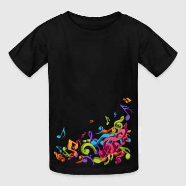 Music - Musician - Band - Music Notes - Musical - Kids' T-Shirt