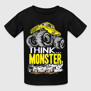 Think Monster Truck Yell - Kids' T-Shirt