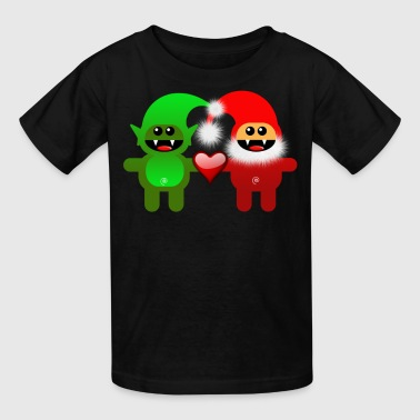 SANTA & LITTLE HELPER - Kids' T-Shirt