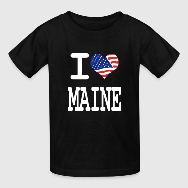 i love maine - white - Kids' T-Shirt