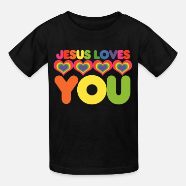 Cool Christian Jesus loves you - Kids' T-Shirt
