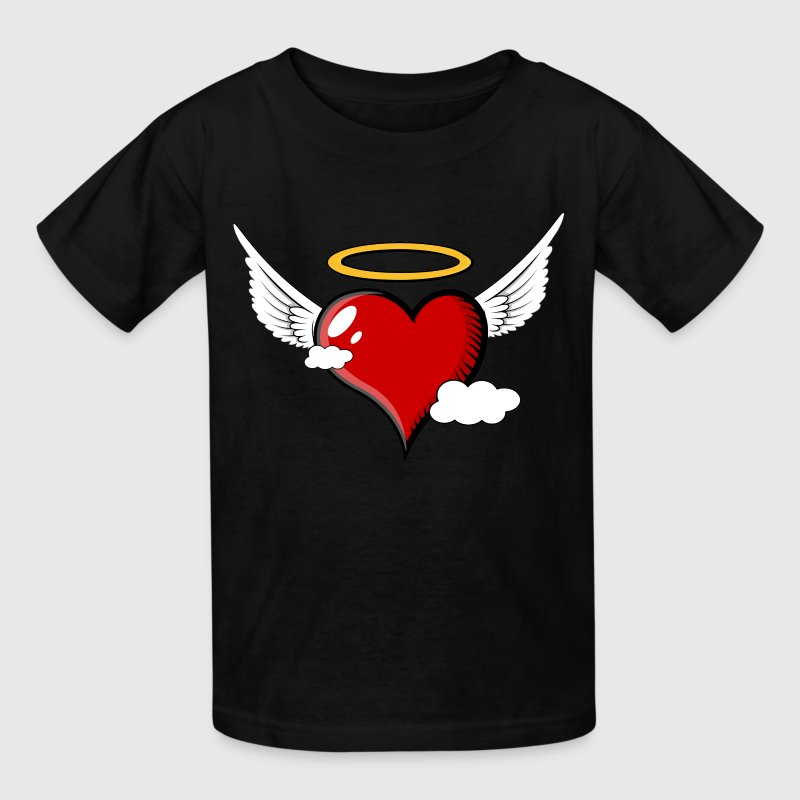 Flying Heart with Halo - Kids' T-Shirt