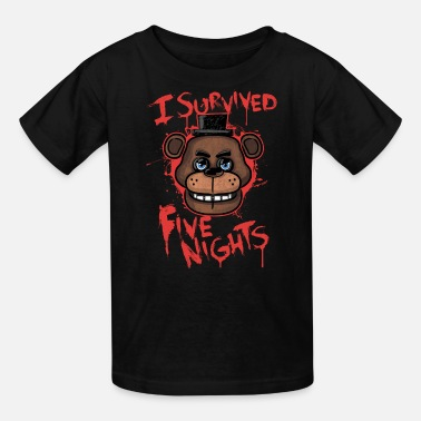 Fnaf I Survived Five Nights - Kids' T-Shirt