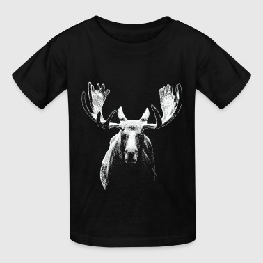 Bull moose w - Kids' T-Shirt