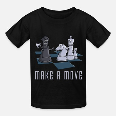 Chess chess_make_a_move_11_2016 - Kids' T-Shirt