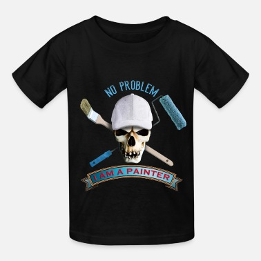 Painter painter_skull_brush_092016_a - Kids' T-Shirt