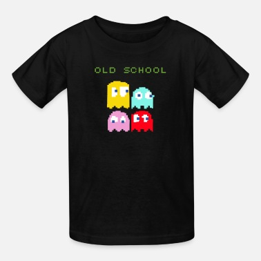 e8e8616e Pac Man Old School Video Games - Kids' T-Shirt