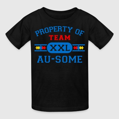 Autism Team Property of Team Au-Some - Kids' T-Shirt