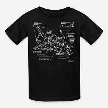 Discovery space shuttle - Kids' T-Shirt