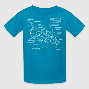 space shuttle - Kids' T-Shirt