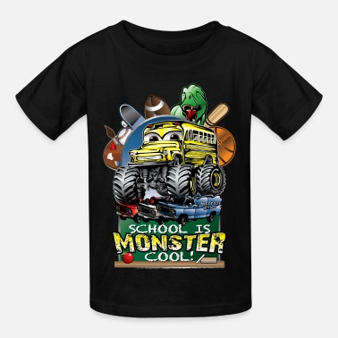 First Day Of School Monster School Bus - Kids' T-Shirt
