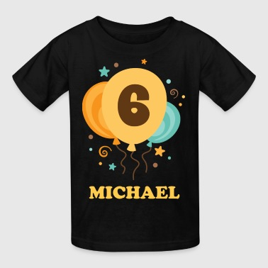 6th Birthday Party balloons - Kids' T-Shirt