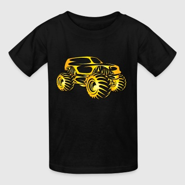 Monster Truck Cutout - Kids' T-Shirt