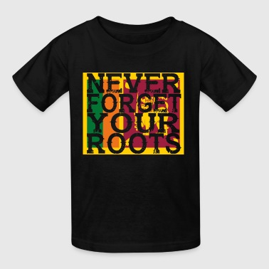 never forget roots home Sri Lanka - Kids' T-Shirt