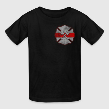 Firefighter Badge Design - Kids' T-Shirt