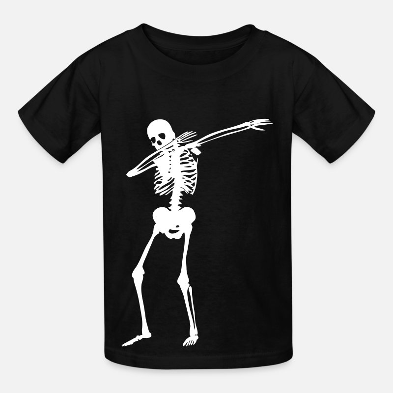 Skeleton T-Shirts - Dab Skeleton - Kids' T-Shirt black