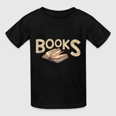 Funny Bookworm - Books - Words Knowledge Learning - Kids' T-Shirt